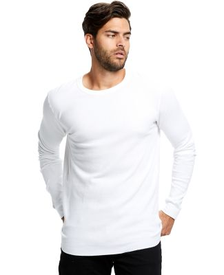 US Blanks US2900 Men's 5.8 oz. Long-Sleeve Thermal White