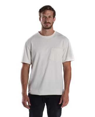 US Blanks US3017 Men's 5.4 oz. Tubular Workwear Te White