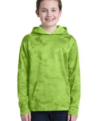 Sport Tek YST240 Sport-Tek Youth Sport-Wick CamoHex Fleece Hooded Pullover Catalog