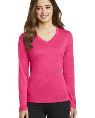 Sport Tek LST360LS Sport-Tek Ladies Long Sleeve Heather Contender V-Neck Tee Catalog