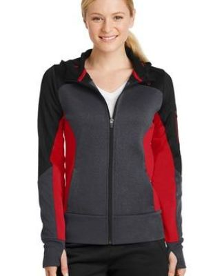 Sport Tek LST245 Sport-Tek Ladies Tech Fleece Colorblock Full-Zip Hooded Jacket Catalog