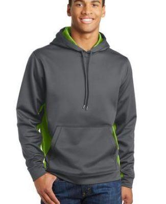Sport Tek ST239 Sport-Tek Sport-Wick CamoHex Fleece Colorblock Hooded Pullover Catalog
