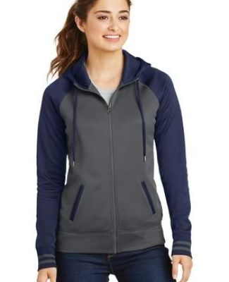 Sport Tek LST236 Sport-Tek Ladies Sport-Wick Varsity Fleece Full-Zip Hooded Jacket Catalog