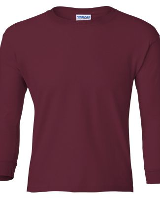 2400B  Gildan Youth 6.1 oz. Ultra Cotton® Long-Sl MAROON