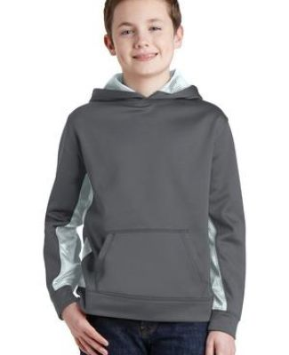 Sport Tek YST239 Sport-Tek Youth Sport-Wick CamoHex Fleece Colorblock Hooded Pullover Catalog