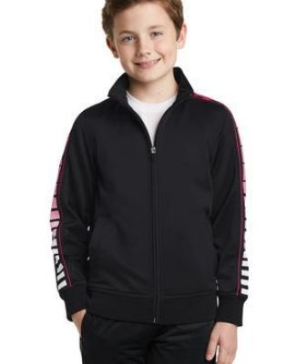 Sport Tek YST93 Sport-Tek Youth Dot Sublimation Tricot Track Jacket Catalog