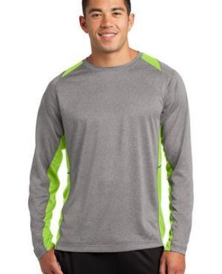 Sport Tek ST361LS Sport-Tek Long Sleeve Heather Colorblock Contender Tee Catalog