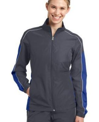 Sport Tek LST61 Sport-Tek Ladies Piped Colorblock Wind Jacket Catalog