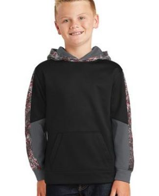 Sport Tek YST231 Sport-Tek Youth Sport-Wick Mineral Freeze Fleece Colorblock Hooded Pullover Catalog