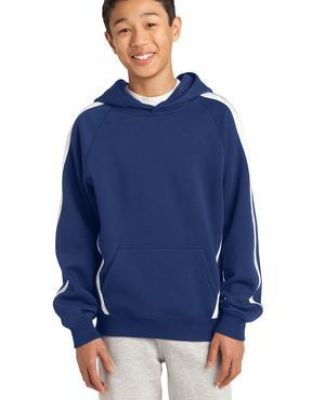 Sport Tek YST265 Sport-Tek® Youth Sleeve Stripe Pullover Hooded Sweatshirt Catalog