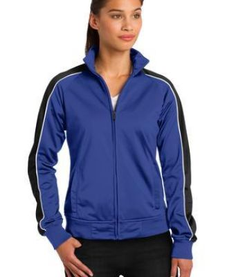 Sport Tek LST92 Sport-Tek Ladies Piped Tricot Track Jacket Catalog