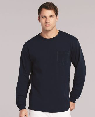 2410 Gildan 6.1 oz. Ultra Cotton® Long-Sleeve Pocket T-Shirt Catalog
