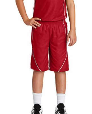 Sport Tek YT565 Sport-Tek Youth PosiCharge Mesh Reversible Spliced Short Catalog