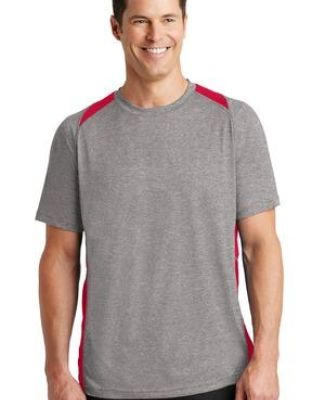 Sport Tek ST361 Sport-Tek Heather Colorblock Contender Tee Catalog