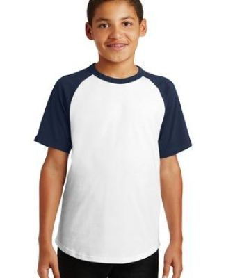 Sport Tek YT201 Sport-Tek Youth Short Sleeve Colorblock Raglan Jersey Catalog