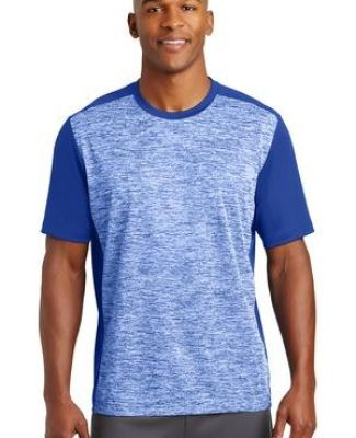 Sport Tek ST395 Sport-Tek PosiCharge Electric Heather Colorblock Tee Catalog