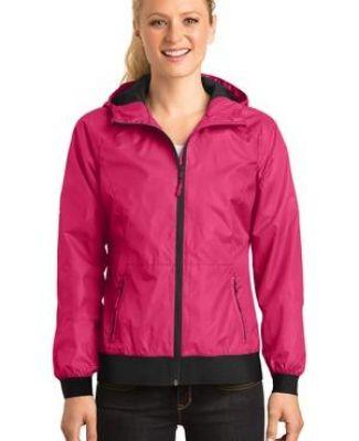 Sport Tek LST53 Sport-Tek Ladies Embossed Hooded Wind Jacket Catalog