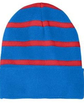 Sport Tek STC31 Sport-Tek Striped Beanie with Solid Band Catalog