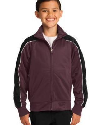 Sport Tek YST92 Sport-Tek Youth Piped Tricot Track Jacket Catalog