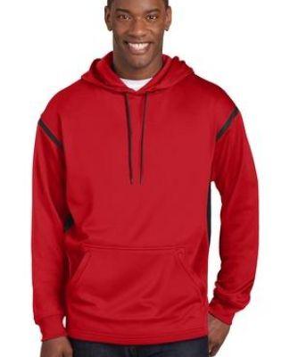 Sport Tek Tall Tech Fleece Hooded Sweatshirt-3XLT Grey Heather//Forest Green