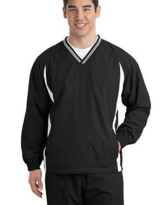 Sport Tek TJST62 Sport-Tek Tall Tipped V-Neck Raglan Wind Shirt Catalog