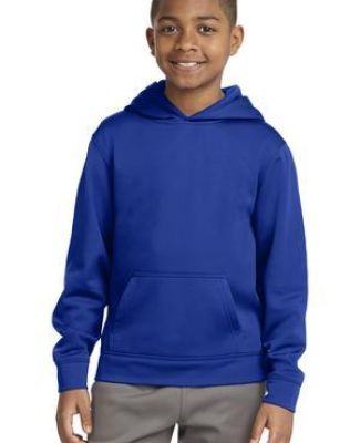 Sport Tek YST244 Sport-Tek Youth Sport-Wick Fleece Hooded Pullover Catalog
