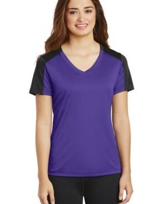 Sport Tek LST354 Sport-Tek Ladies PosiCharge Competitor Sleeve-Blocked V-Neck Tee Catalog