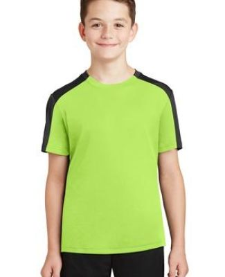 Sport Tek YST354 Sport-Tek Youth PosiCharge Competitor Sleeve-Blocked Tee Catalog