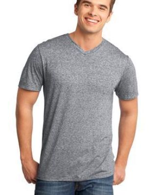 District DT161 CLOSEOUT  - Young Mens Microburn V-Neck Tee Catalog