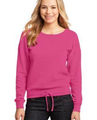 District DT293 CLOSEOUT  - Juniors Core Fleece Wide Neck Pullover Catalog
