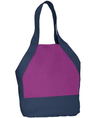 District DT713 ® On-the-Go Canvas Tote Berry/Navy