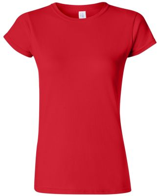 64000L Gildan Ladies 4.5 oz. SoftStyle™ Ringspun RED