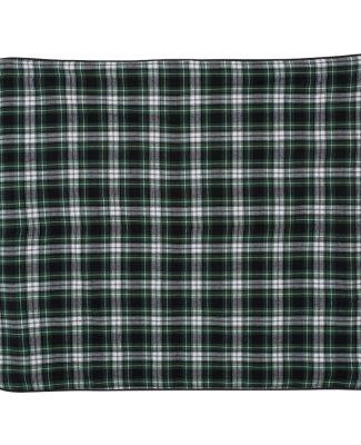 Boxercraft FB250 Flannel Blanket Green/ White/ Black
