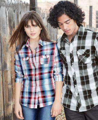 Burnside 5222 Women's Long Sleeve Plaid Shirt Catalog