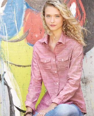 Burnside 5247 Women's Textured Solid Long Sleeve Shirt Catalog