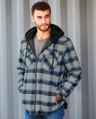 Burnside 8620 Quilted Flannel Full-Zip Hooded Jacket Catalog