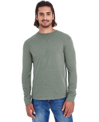 econscious EC1588 Men's Heather Sueded Long Sleeve ASPARAGUS