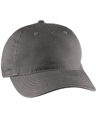 econscious EC7087 Twill 5-Panel Unstructured Hat CHARCOAL
