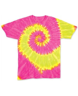 Dyenomite 20BWA Youth Wave Short Sleeve T-Shirt Fluorescent Wave