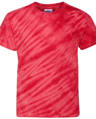 Dyenomite 20BTS Youth One Color Tiger Stripe T-Shi Red