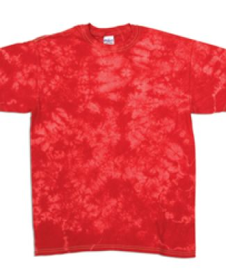 Dyenomite 20BCR Youth Crystal Tie Dye T-Shirt Red