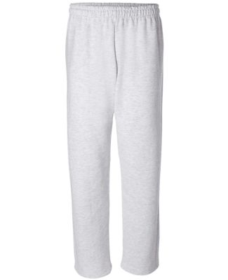 G184 Gildan 7.75 oz., 50/50 Open-Bottom Sweatpants ASH