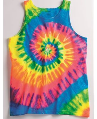 Dyenomite 420MS Multi-Color Spiral Unisex Tank Top Catalog