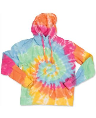 Dyenomite 854BMS Youth Multi-Color Swirl Hooded Sw Aerial Spiral
