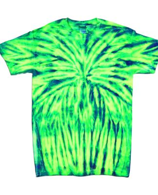 Dyenomite 20BSP Youth Spider Tie Dye T-Shirt Electric