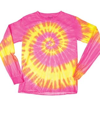 Dyenomite 24BWA Youth Wave Tie Dye Long Sleeve Catalog