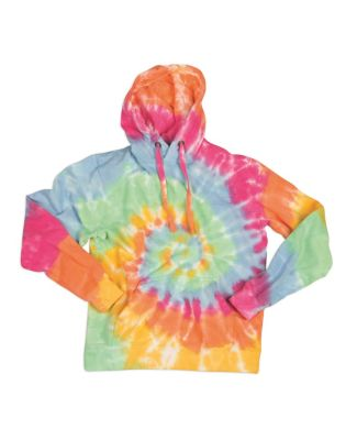 Dyenomite 854MS Multi-Color Spiral Pullover Hooded Aerial Spiral