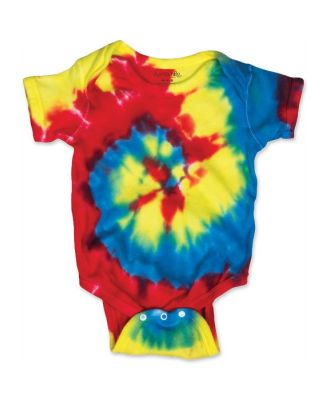 Dyenomite 4400MS Spiral Tie Dye Infant Classic Rainbow Spiral