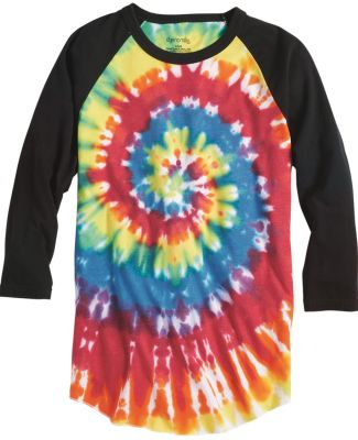 Dyenomite 660VR Tie-Dyed Three-Quarter Sleeve Raglan T-Shirt Catalog