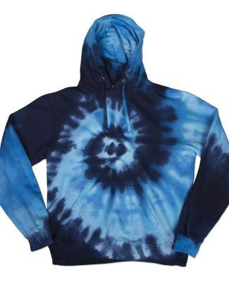 Dyenomite 854TI Tide Tie Dye Hoodie Blue